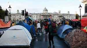 Extinction Rebellion protestors set up camp in London's Trafalgar Square [Video]