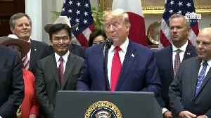 President Trump just signed two new trade agreements with Japan, [Video]