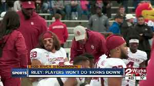 News video: Lincoln Riley: OU players won't use 'Horns Down' signal in Red River Showdown with Texas
