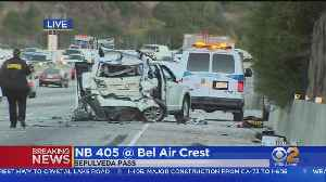 Both Sides Of 405 Freeway Heavy Around Fatal Crash In Northbound Lanes [Video]