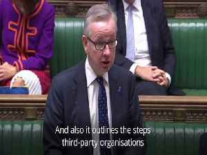News video: Michael Gove and Keir Starmer clash over no-deal preparations