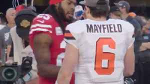 News video: Richard Sherman BLASTS Baker Mayfield For Not Shaking His Hand, Says Mayfield Needs To