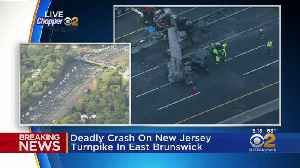 Deadly Crash On NJ Turnpike Causes Rush Hour Traffic Jam [Video]