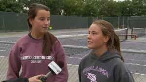 Onalaska twin sisters dominating competition in first season as doubles partners [Video]