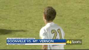 HS B SOC SECTIONALS: Boonville Beats Mt. Vernon [Video]