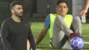Arjun Kapoor And M.S Dhoni TOGETHER Play Football For Charity In Mumbai [Video]