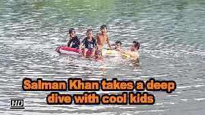 Salman Khan takes a deep dive with cool kids [Video]