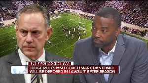 Judge rules MSU coach Mark Dantonio will be deposed in lawsuit after season [Video]