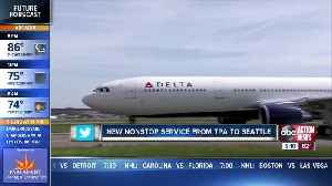 New nonstop service from Tampa to Seattle [Video]