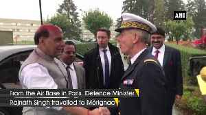 Defence Minister Rajnath Singh boards French military aircraft in Paris [Video]
