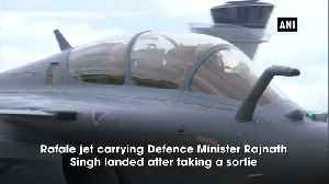 Rafale procurement part of our self defence not sign of aggression Rajnath Singh [Video]
