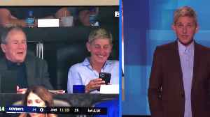 Ellen DeGeneres defends hanging out with George W. Bush [Video]