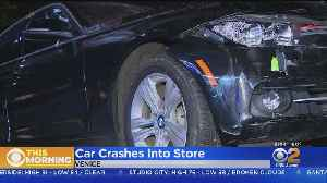 Car Crashes Into Venice Convenience Store [Video]