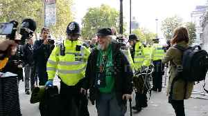 News video: Police arrest Extinction Rebellion protesters, including 91-year-old man, outside Cabinet Office