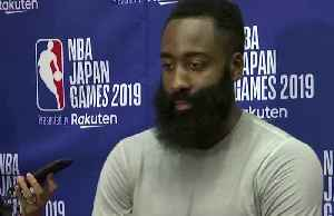 """I am here for Adam Silver"" - Rockets' Harden [Video]"