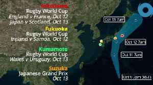 News video: Super Typhoon Hagibis: Japan's Rugby World Cup and F1 under threat