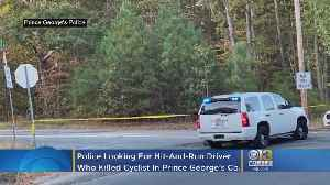 Police Looking For Hit-And-Run Vehicle That Killed Cyclist In Prince George's County [Video]
