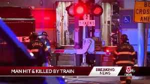 Man struck, killed by train in Chelsea [Video]