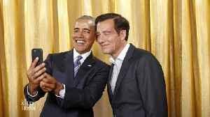 Clive Owen Got a Selfie with Barack Obama [Video]