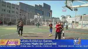 News video: Lakers Preseason Games In China At Risk Of Being Canceled