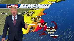 Video: Strong wind gusts, heavy rain coming with ocean storm [Video]
