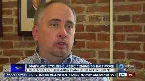 A major professional bike race is coming to Baltimore during Labor Day weekend 2020 [Video]