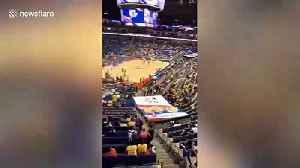 News video: Basketball preseason game in Shanghai fills stadium despite NBA-China row