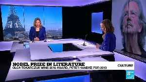 News video: Poland's Tokarczuk and Austria's Handke win Nobel literature prizes