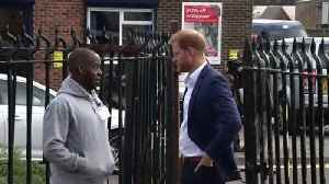 Prince Harry meets young people at charity recording studio [Video]