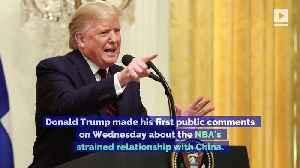 President Trump Criticizes Steve Kerr and Gregg Popovich in NBA China Controversy [Video]