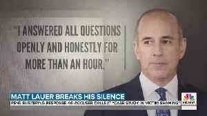 Lauer pens open letter denial, acccuser responds [Video]