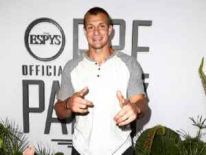 Rob Gronkowski Shows Off Dance Moves on Pre-ESPYs Red Carpet [Video]