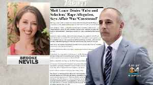 Stunning New Report Reveals Rape Allegation Against Matt Lauer [Video]