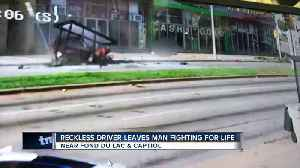 Man suffers life-threatening injuries after being hit by speeding car [Video]