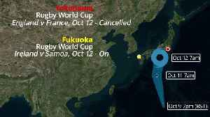 News video: Super Typhoon Hagibis map: England v France cancelled