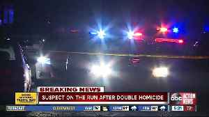 News video: Suspect on the run after double homicide at Tampa mobile home park