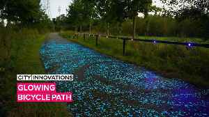City Innovations: Let this Van Gogh inspired bike path light your way [Video]