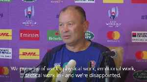 Typhoon hits Rugby World Cup: Eddie Jones 'disappointed' at cancelled England game [Video]
