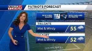 Patriots game weather forecast: Wet and windy [Video]