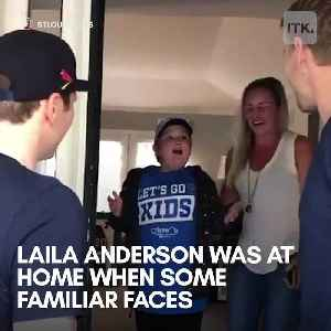 The St. Louis  Blues surprised their biggest fan with an incredible gift [Video]