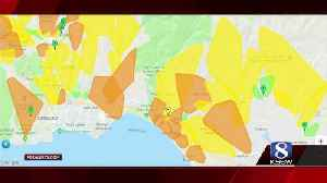 News video: Tens of thousands without power in Santa Cruz County this morning