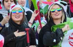 Women fans celebrate as Iran thrash Cambodia [Video]