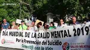 Dozens march in Madrid on World Mental Health Day [Video]
