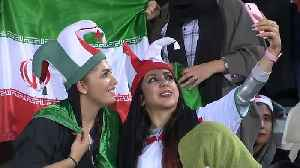 Watch: Iranian women attend first football match in 40 years [Video]