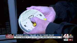 Overland Park fire wants you to know the age of your smoke alarms [Video]