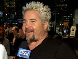 Guy Fieri Talks His Kids & Hugs It Out With Tommy Lee at Super Bowl Event [Video]