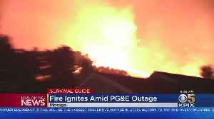 Wildfire Breaks Out In Moraga Neighborhood Impacted By PG&E Outage [Video]