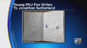 Young Penn State Fan Sends Jonathon Sutherland Letter In Support Of Player [Video]