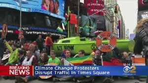 Dozens Arrested After Climate Change Protesters Disrupt Traffic In Times Square [Video]