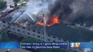 News video: Investigators Say Fire At Houston-Area Motel Was Started By Children Using A Lighter